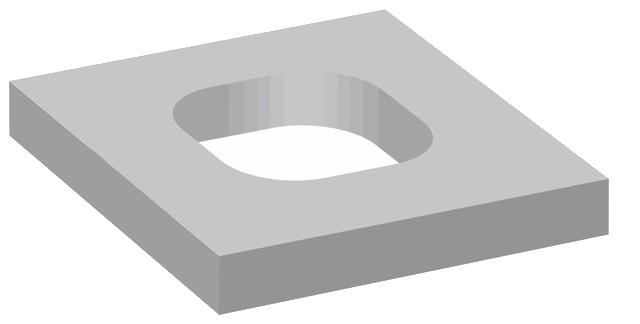 Jednoprůduchové komínové krycí desky s hranatým otvorem