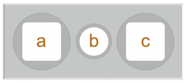 Tříprůduchové komínové krycí desky s hranatými otvory a středovým kruhovým otvorem