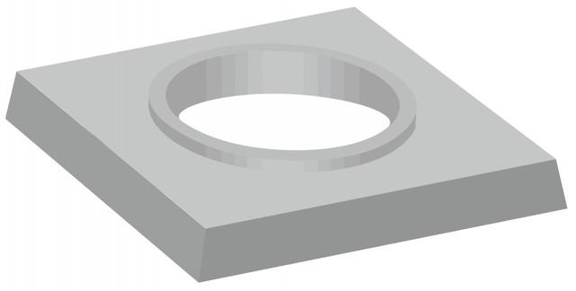 Jednoprůduchové komínové krycí desky s kruhovým otvorem