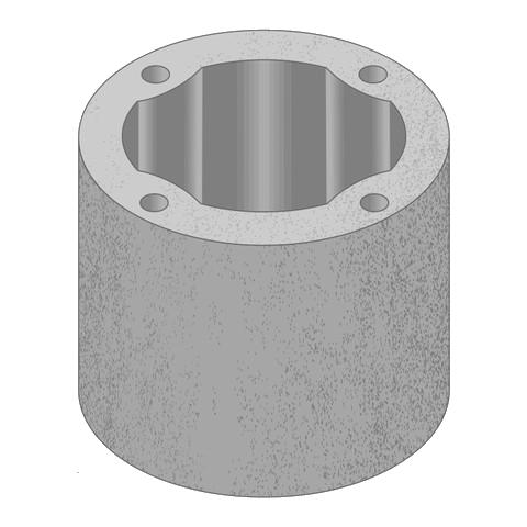 Kruhové jednoprůduchové pilířové tvárnice   PT