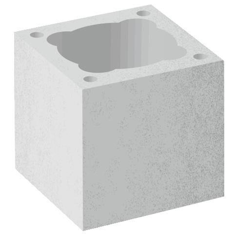 Jednoprůduchové pilířové  tvárnice   PT